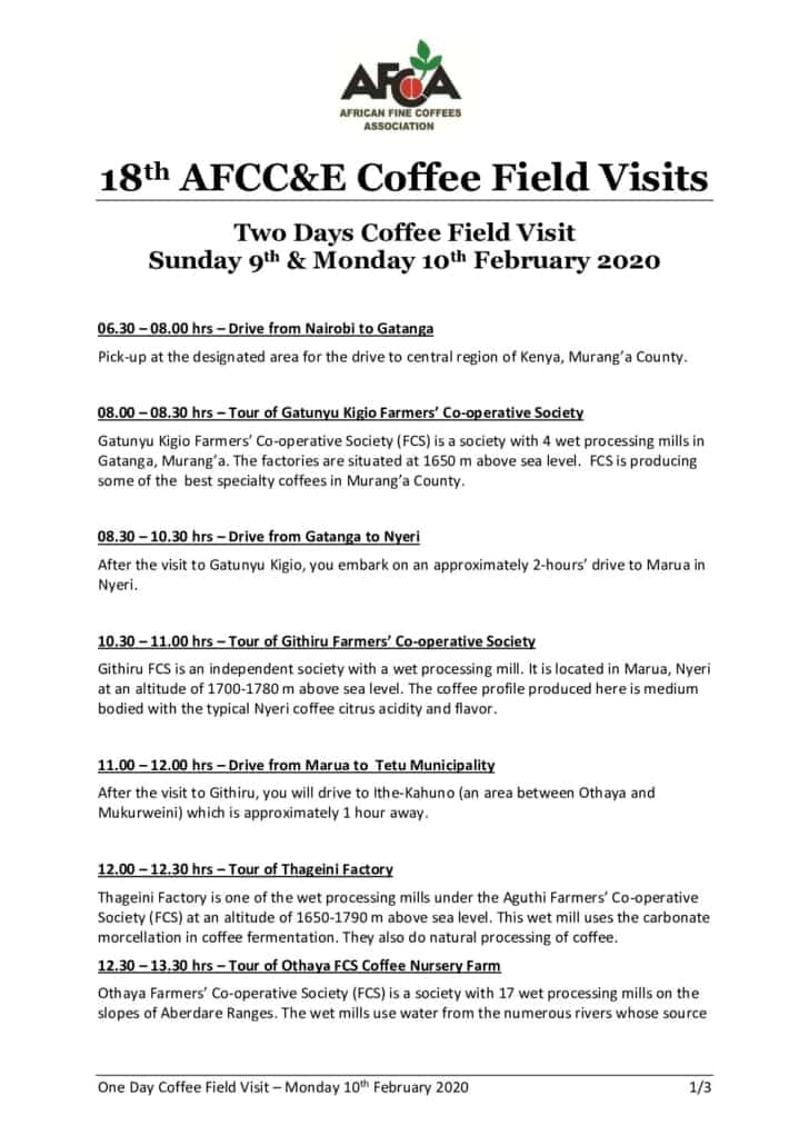 thumbnail of AFCCE18 2-Days Coffee Field Visit Itinerary